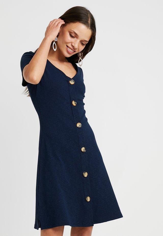 BUTTON DRESS - Jerseykleid - navy