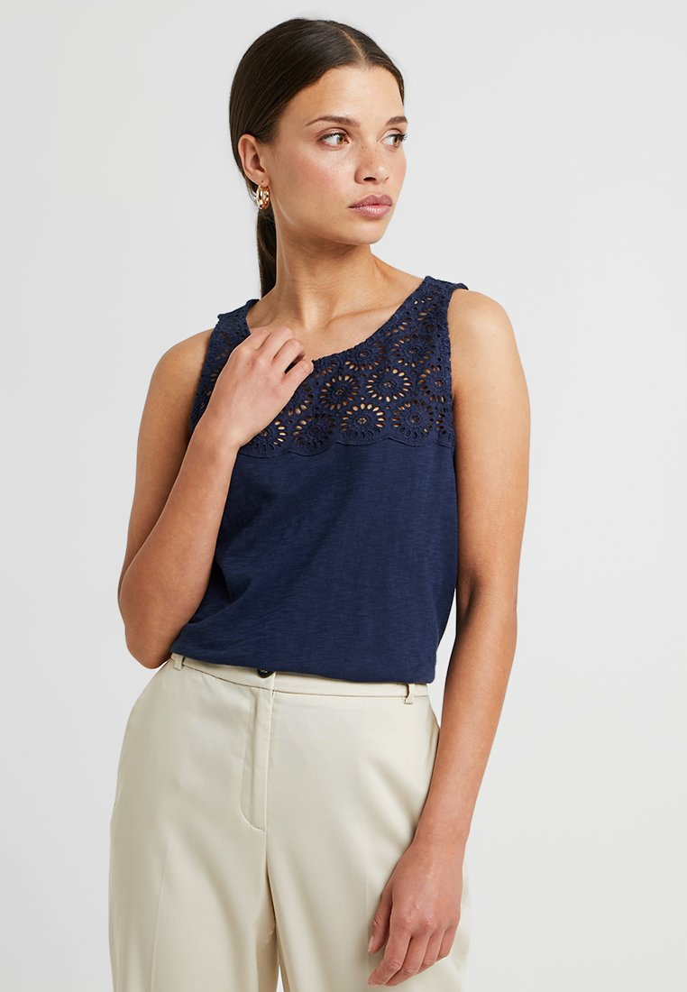 EDC Petite - APAC FABRIC - Top - navy