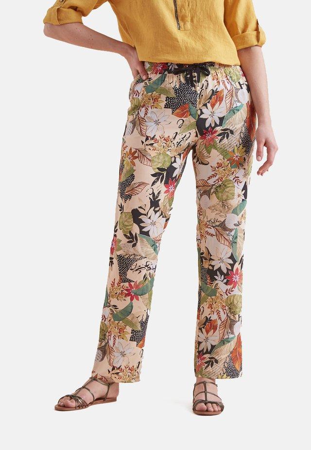 BEDRUCKTE - Trousers - beige