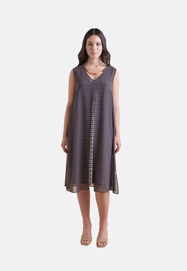 Jersey dress - marrone