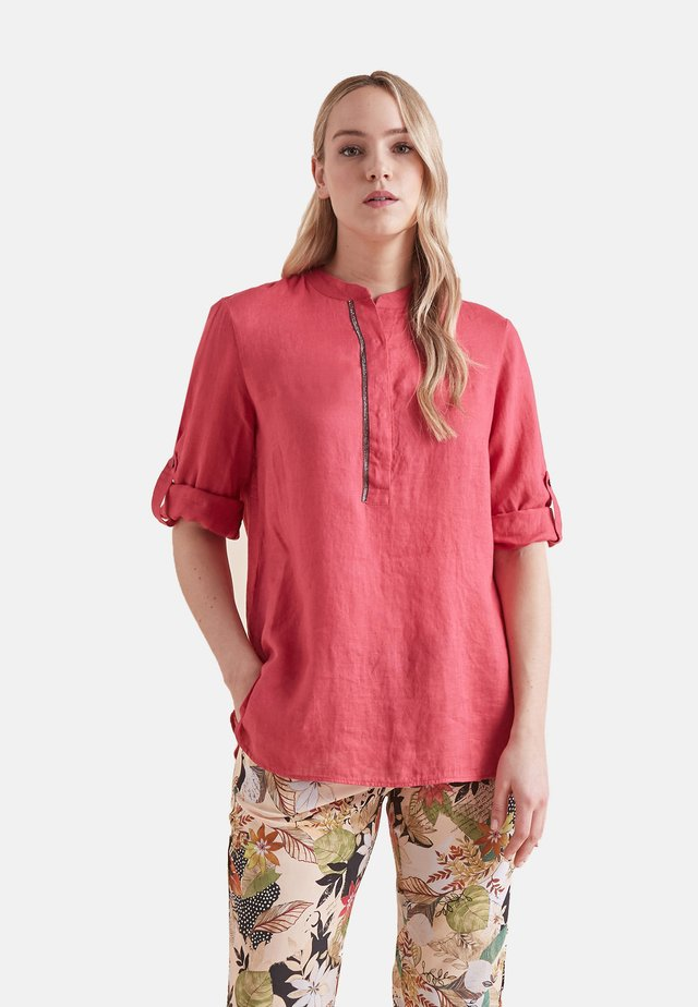 Button-down blouse - rosso