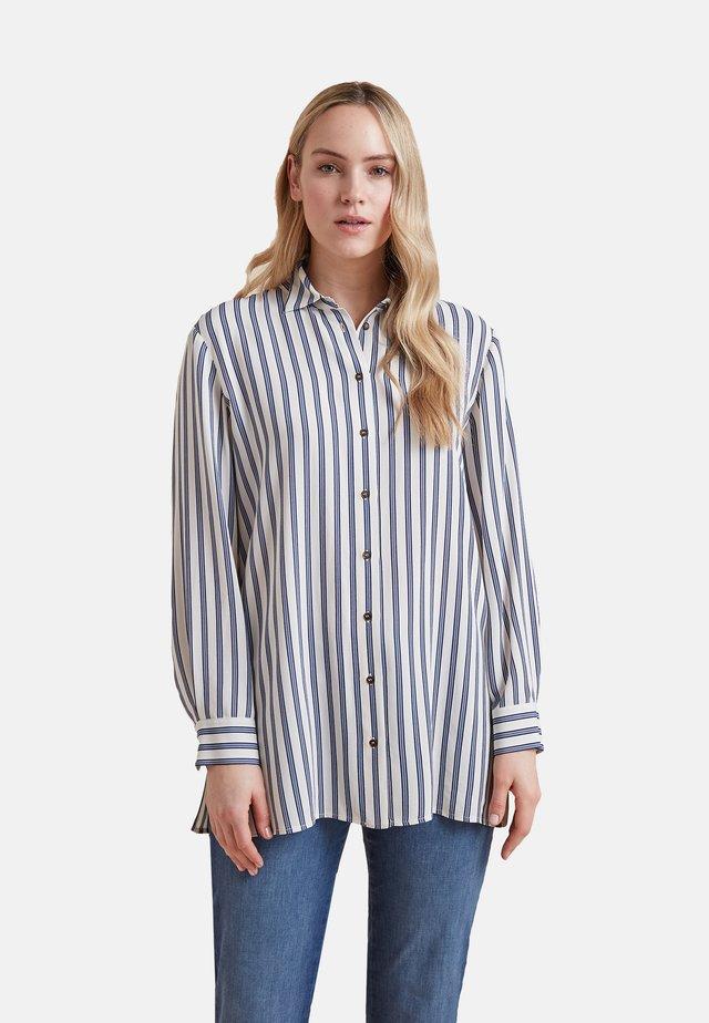 Button-down blouse - blu