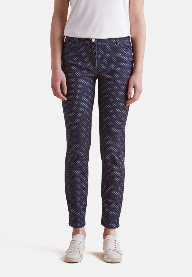 MIT PUNKTMUSTER - Slim fit jeans - blu