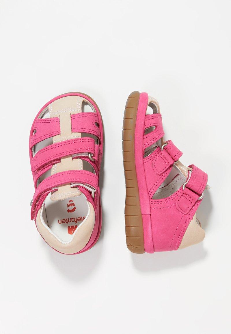 Elefanten - BELLINO - Lær-at-gå-sko - pink/beige