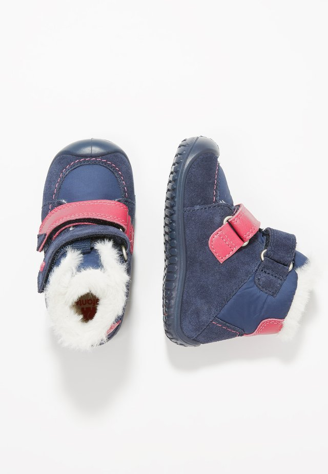 SAORY - Baby shoes - blau/pink