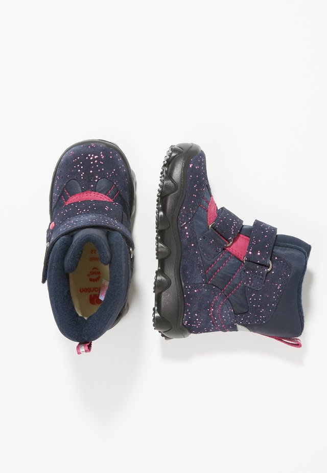 KLARA - Baby shoes - navy/pink
