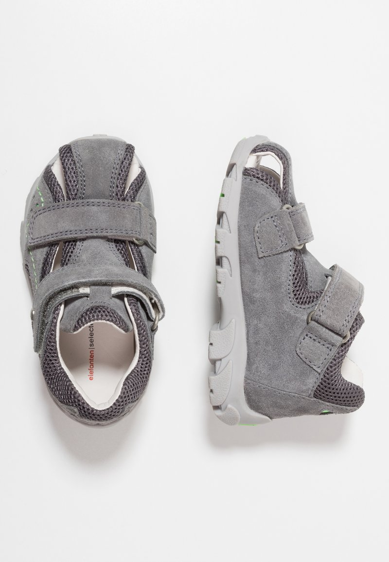 Elefanten - FESTER - Lær-at-gå-sko - grau