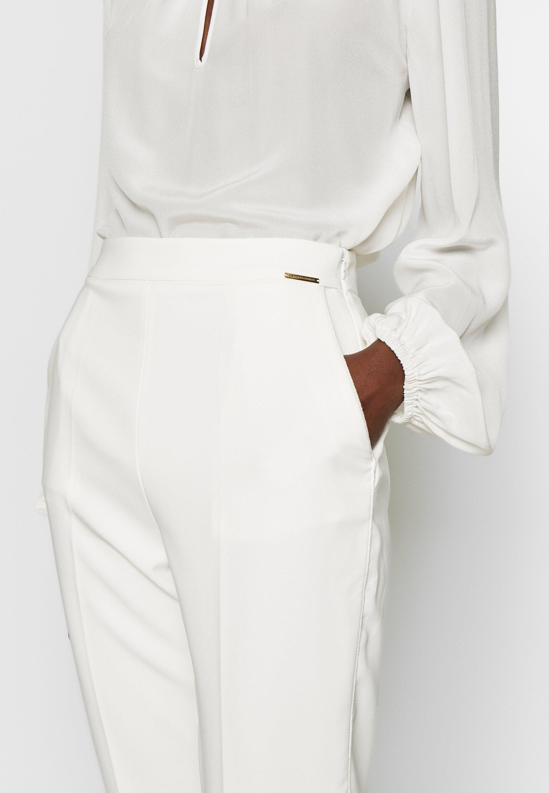 Elisabetta Franchi Spodnie materiałowe - avorio
