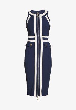 Pouzdrové šaty - dark blue/offwhite