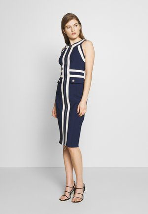 Shift dress - dark blue/offwhite