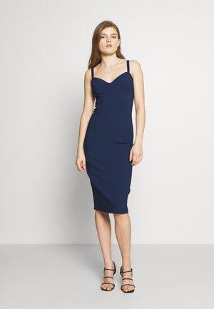 Pouzdrové šaty - blue navy