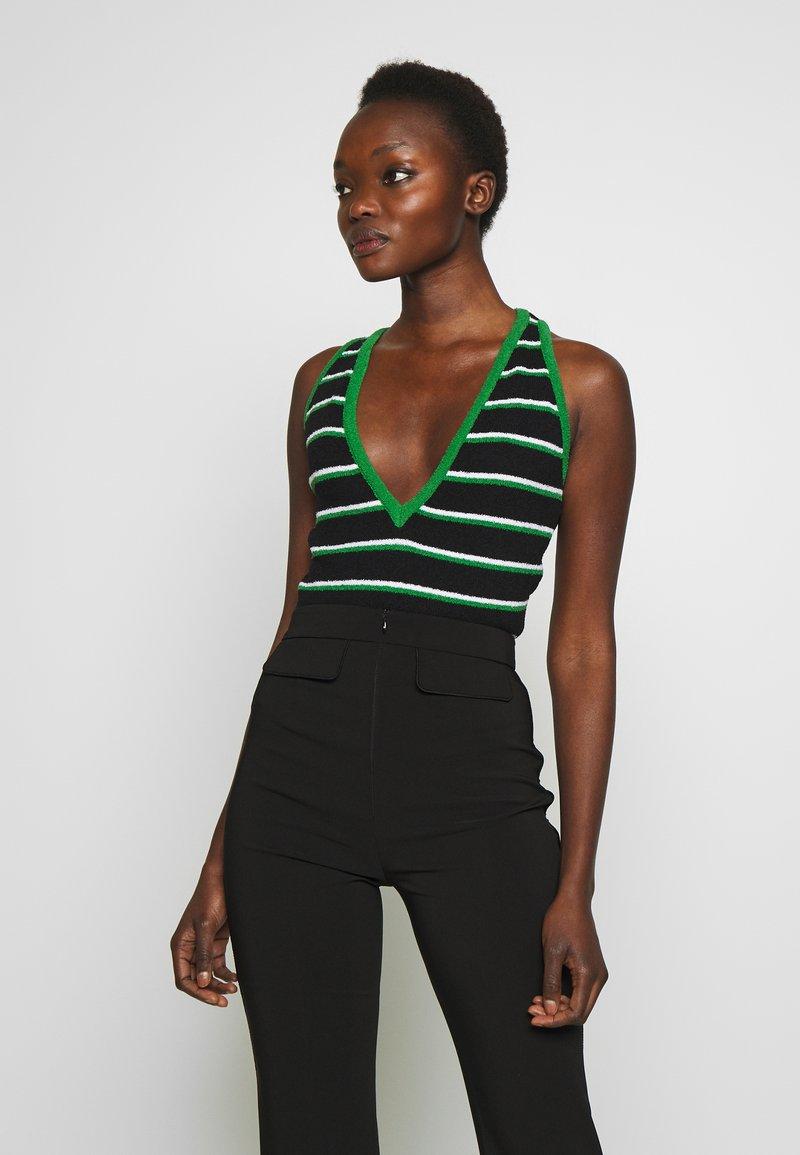 Elisabetta Franchi - Top - black/ green/white