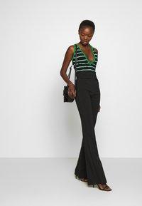 Elisabetta Franchi - Top - black/ green/white - 1