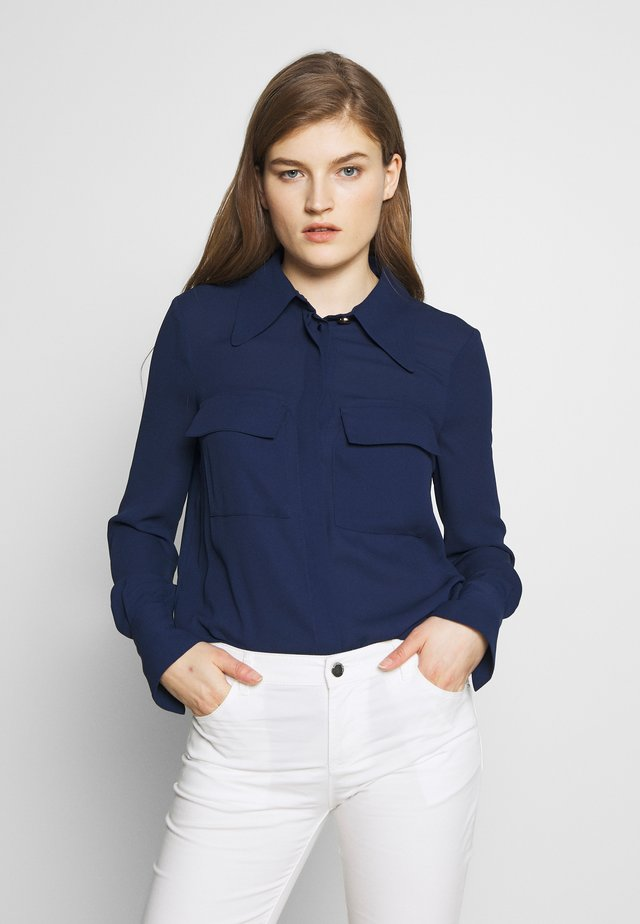 Button-down blouse - blu navy