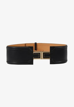 WIDE DRESS BELT LOGO - Cintura - nero