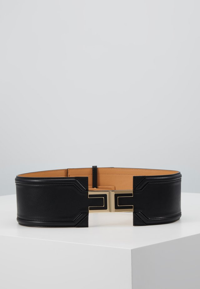 WIDE DRESS BELT LOGO - Waist belt - nero