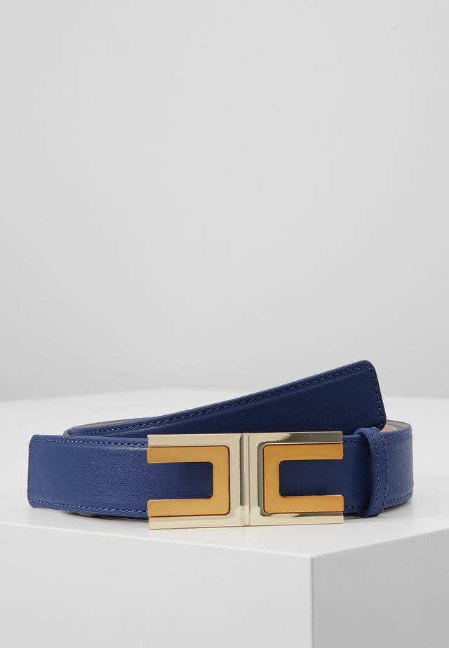 REGULAR LOGO BELT - Ceinture - blu capri