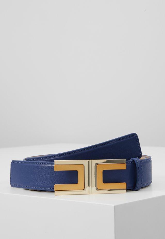 REGULAR LOGO BELT - Belt - blu capri