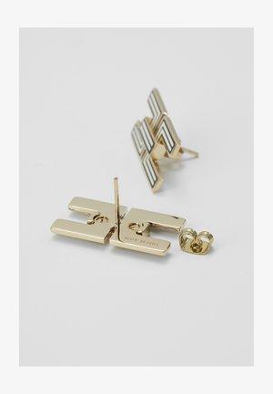 LOGO MONOCHROME STUDS - Earrings - nero/burro