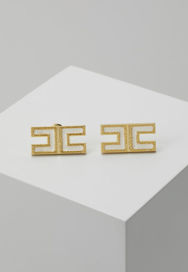 LOGO SQUARE STUDS - Earrings - off-white