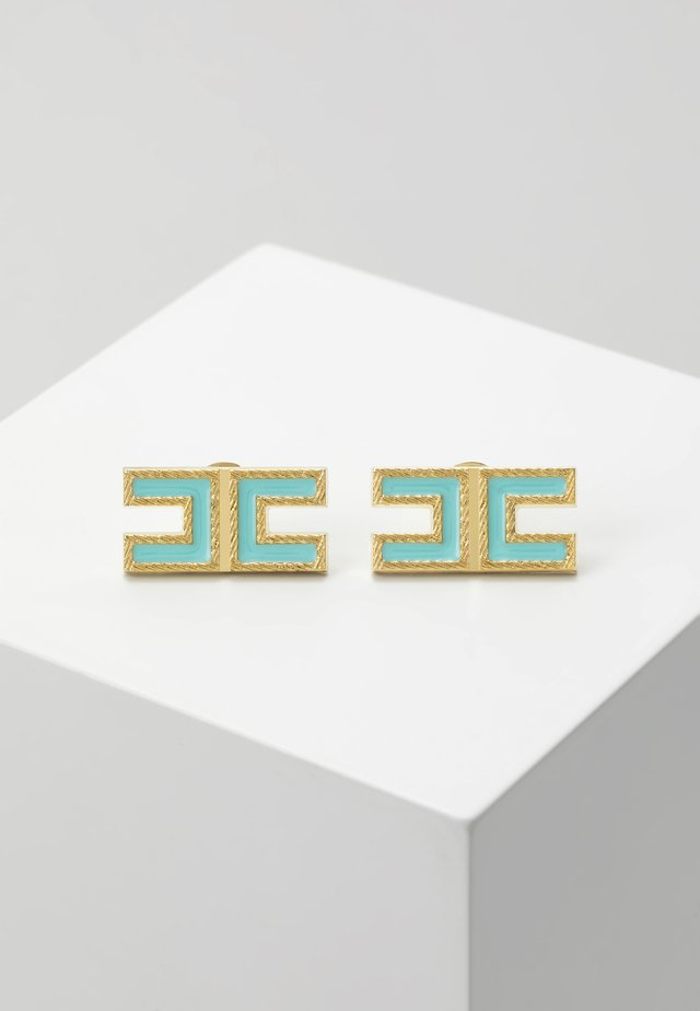 LOGO SQUARE STUDS - Earrings - mint