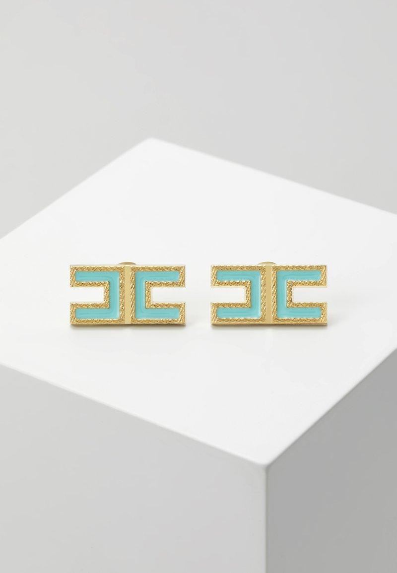 Elisabetta Franchi - LOGO SQUARE STUDS - Earrings - mint