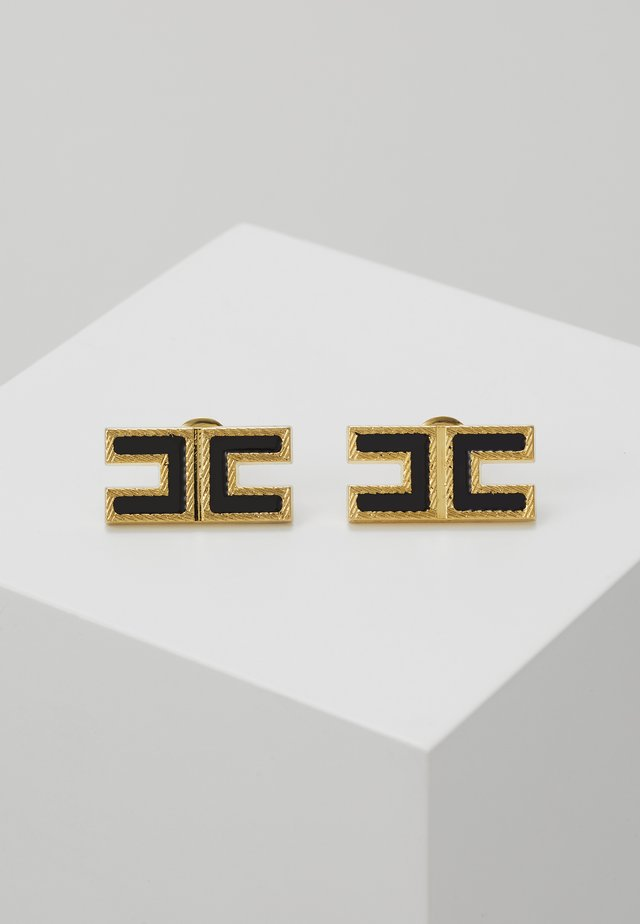 LOGO SQUARE STUDS - Earrings - nero