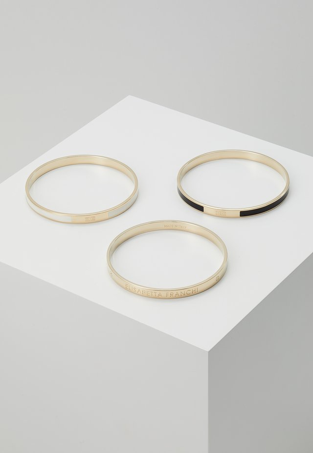 BANGLE COLOURS 3 PACK - Bracelet - nero/burro