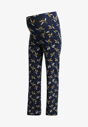 BADYS - Pantalones - navy blue/ yellow