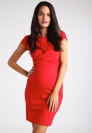 AUDREY - Vestido de tubo - red