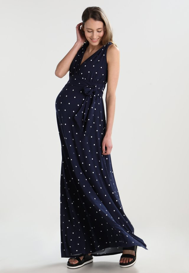 ROMAINE TANK - Maxi dress - navy blue/off white