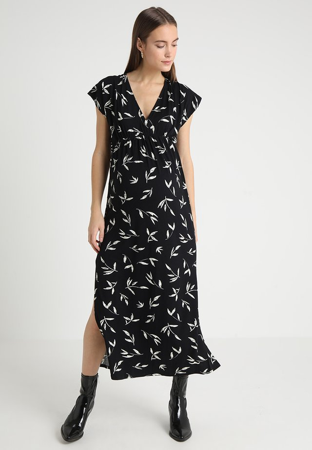CHRISTELLE - Maxi dress - black/off-white