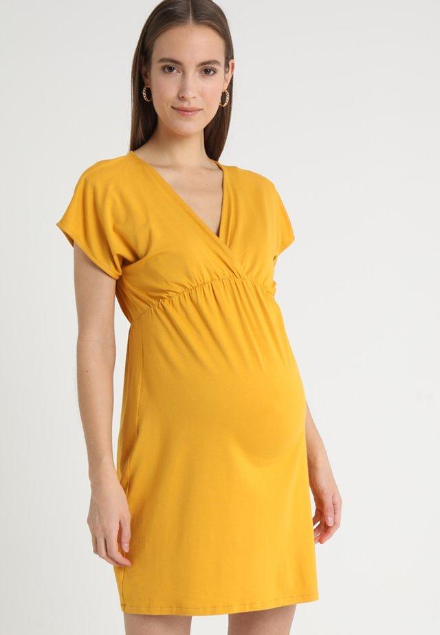 EVI - Jerseykleid - mustard