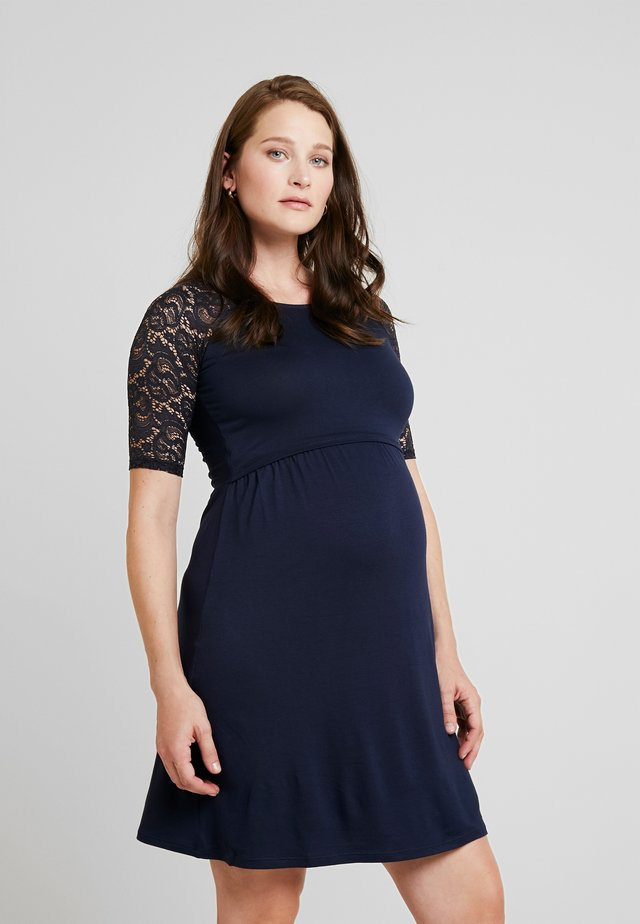 EDWINA MATERNITY DRESS - Jerseyjurk - navy blue
