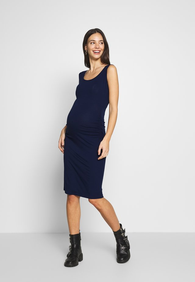 KIZOMBA TANK MATERNITY DRESS - Jerseykjole - navy blue