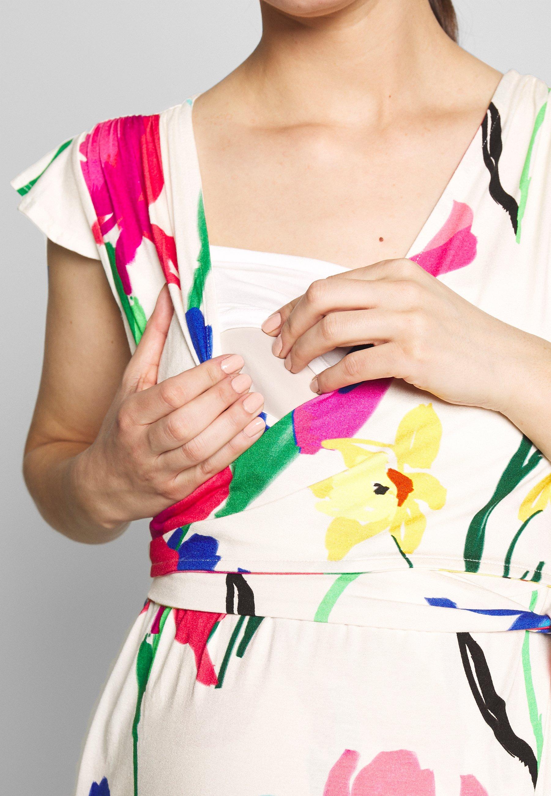 Envie de Fraise ADELAIDE DRESS - Vestito di maglina - off white/multicolour ZhcfPB2k