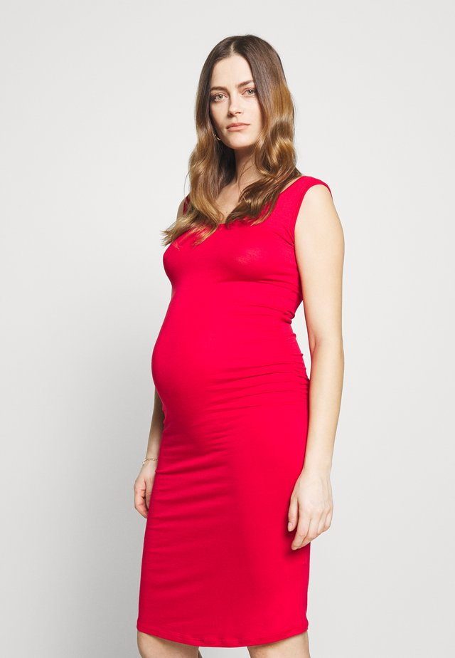 KIZOMBA TANK MATERNITY DRESS - Trikoomekko - red