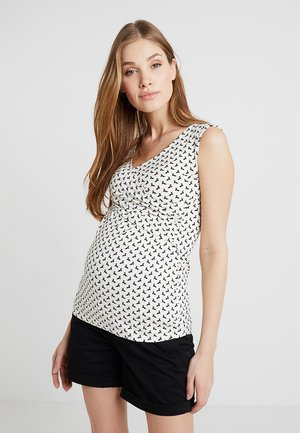 FIONA TANK NURSING - Top - off white/ black