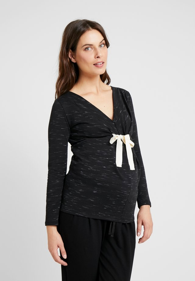 SYMPHONIE - Long sleeved top - black