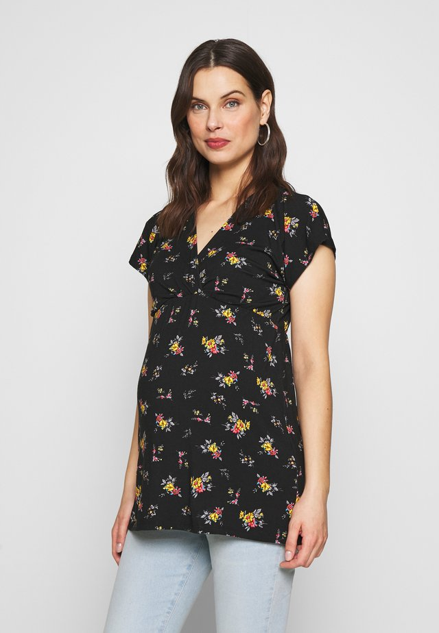 KELLY NURSING TOP - Print T-shirt - black/yellow