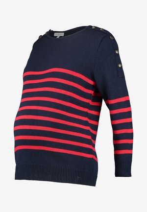GASPARD - Sweter - navy blue red
