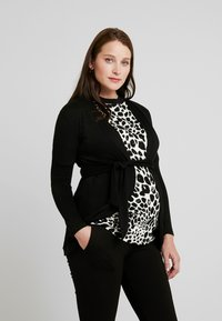 Envie de Fraise - MILONGA MATERNITY CARDIGAN - Kardigan - black - 0