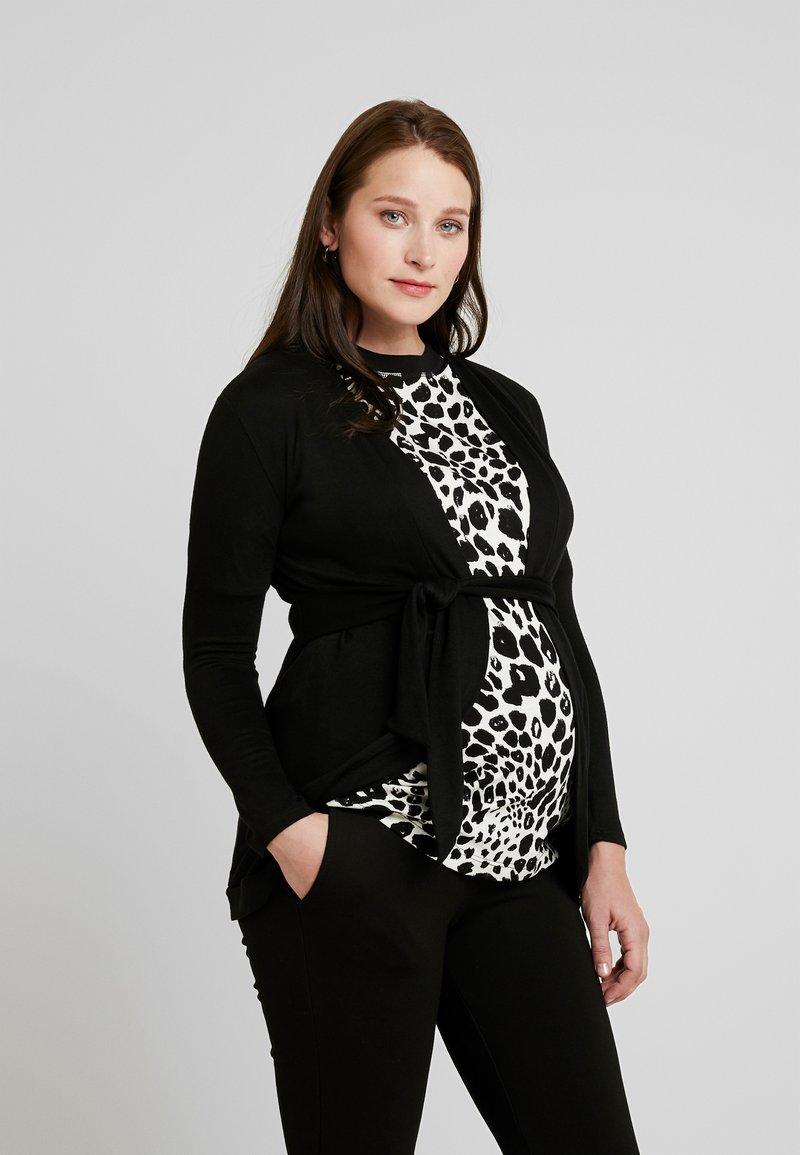 Envie de Fraise - MILONGA MATERNITY CARDIGAN - Vest - black