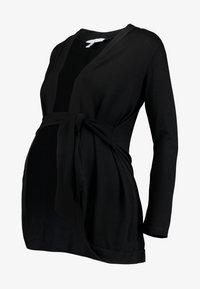 Envie de Fraise - MILONGA MATERNITY CARDIGAN - Vest - black - 4