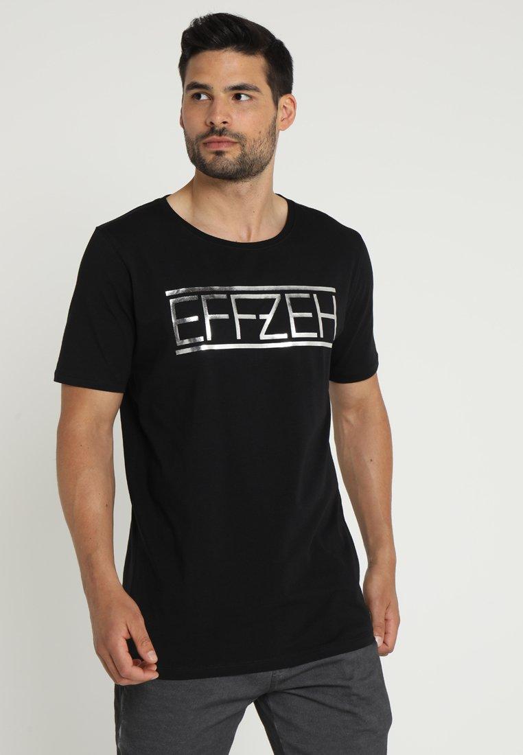 Effzeh - LABEL FOIL  - Pelipaita - black
