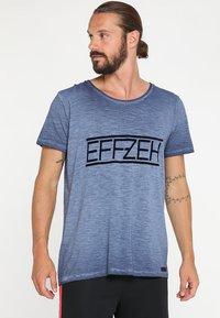 Effzeh - Printtipaita - blue - 0