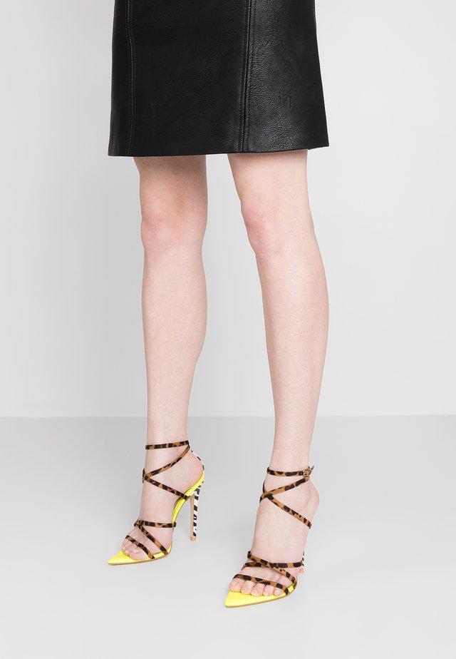 RAJA - High heeled sandals - yellow