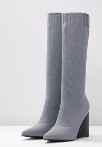 EGO - ROCCO - High Heel Stiefel - grey - 4