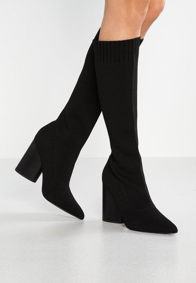 ROCCO - Boots med høye hæler - black