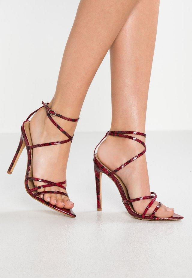 KAIA - Sandaler med høye hæler - red